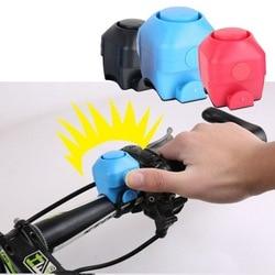 Bicicleta eletrônica alto chifre 130 db aviso de segurança elétrica sino sirene da bicicleta guiador anel alarme sino ciclismo acessórios