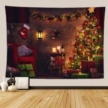 Merry Рождественские носки настенный гобелен каминный ткань