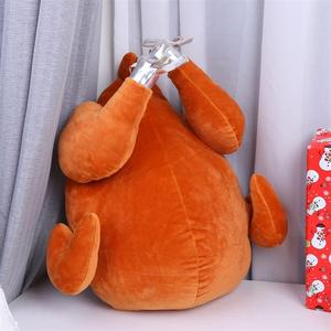 1PC 크리스마스 터키 베개 플러시 장난감 손 따뜻하게 던져 베개 홈 소파의 자 PP 면화 및 봉 제 재료 봉 제 완구