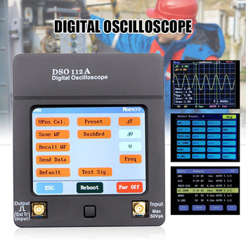 DSO112A TFT Mini Digital Oscilloscope Portable USB Oscilloscope Interface 2MHz 5Msps with Touch Screen QP2