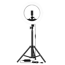 New 14 Inch Photography Ring Lamp with Tripod 1.6M for Beauty Makeup Photo Studio Lighting Live Stream EU Plug