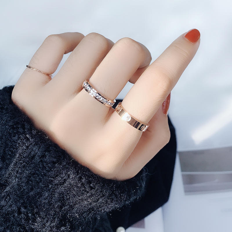 Classic Stainless Steel Screw Rose Gold Silver Color Rings Filled Love Wedding for Men Women Engagement Jewelry (GR228) 6