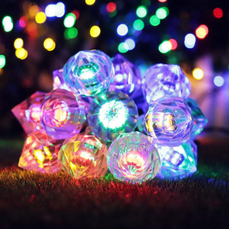 forma de diamante led energia da lampada 02