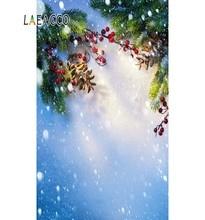 Laeacco Photo Christmas Backdrops Tree Pine Nuts Snowflake Dreamy Child Portrait Photography Backgrounds Photocall Studio