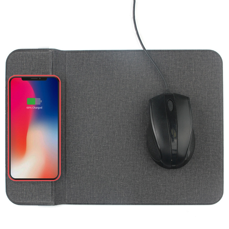 Wireless Charger Multi Function Mouse Pad Creative Bracket Cloth Pattern Ultra Thin Desktop 10W Fast Charge in Mouse Pads from Computer Office