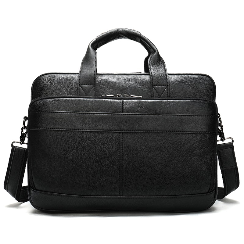 Mens Leather Bags Genuine Leather Laptop Bag Men Briefcase Bags Laptop Business Casual Man Briefcase Bag Torba Biurowa      8841