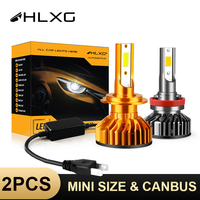 HLXG Mini Canbus lampada H4 H7 LED de la linterna del coche 16000LM 4300K 6000K 8000K lámpara H1 9005 HB3 9006 HB4 H8 H9 H11 niebla bombillas de luces LED