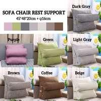 Sofa Cushion Triangle Back Pillow Bed Backrest Office Chair Pillow Support Waist Cushion Lounger TV Reading Lumbar Home Decor