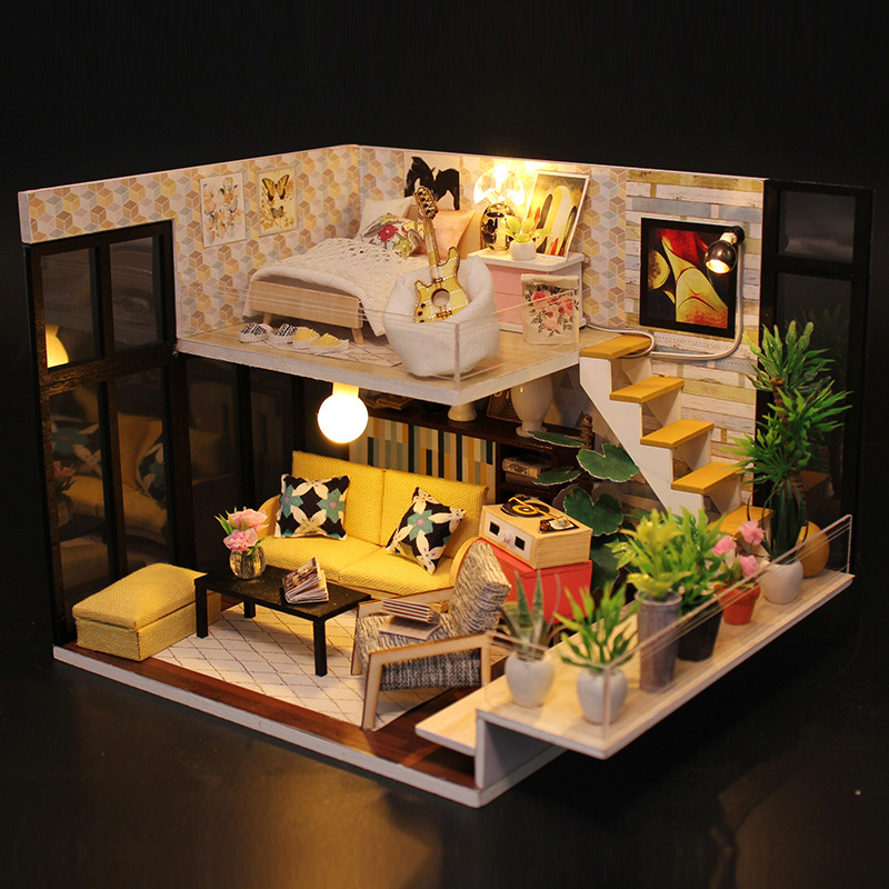 DIY Hut Hand-made House Japanese Style Toy Loft Model Assembled Has Sent Creative Made In China Gift Women's