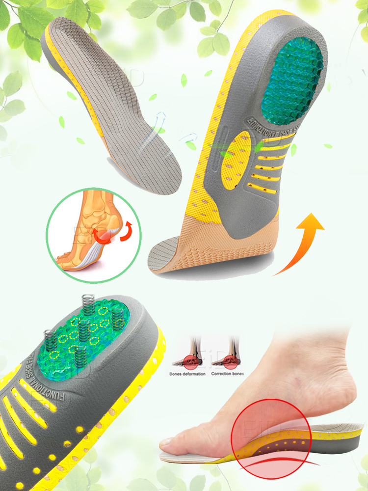 EiD PVC Orthopedic Insoles Orthotics flat foot Health Sole Pad for Shoes insert Arch