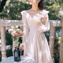 Новое модное женское французское винтажное платье с вышивкой милое