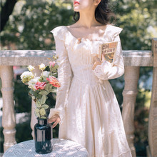 2019 nuevo vestido bordado Vintage francés para mujer
