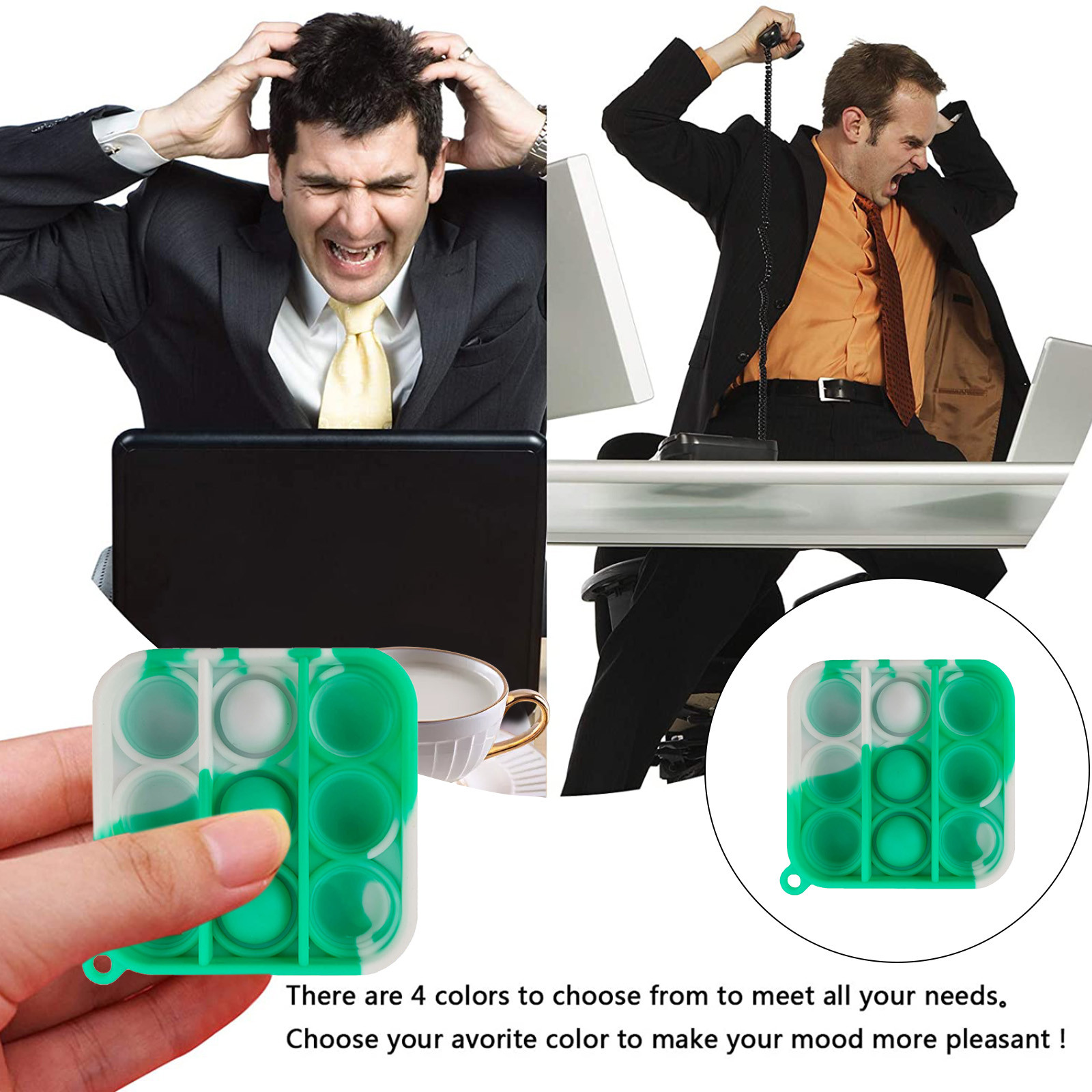 Key-Ring It-Fidget-Toys Educational-Toy Anti-Stress-Pop Push Bubble Adult Mini Children img4