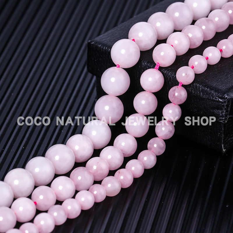 LanLi 6/8/10mm natürliche schmu Rose Rosa Quarz Lose Perlen Natürliche Steine Geeignet für DIY Mode armband halskette Zubehör