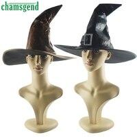 CHAMSGEND, sombreros de bruja, cinta de Mascarada, sombrero de mago, accesorio para fiesta, accesorio para traje de halloween, sombrero, accesorios, Cosplay adulto, decoración para vestido de fiesta #4