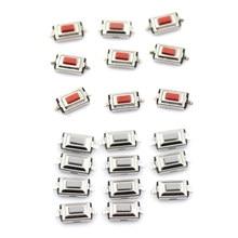 Micro-interrupteur Tactile momentané à deux broches, 3x6x2.5 MM, pour MP3 et MP4, 10 pièces