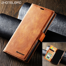 Luxury Leather Case For Samsung Galaxy Note10 Pro Magnetic Wallet Flip Card Holder Protector Note 10 Note10pro Phone Cover bag