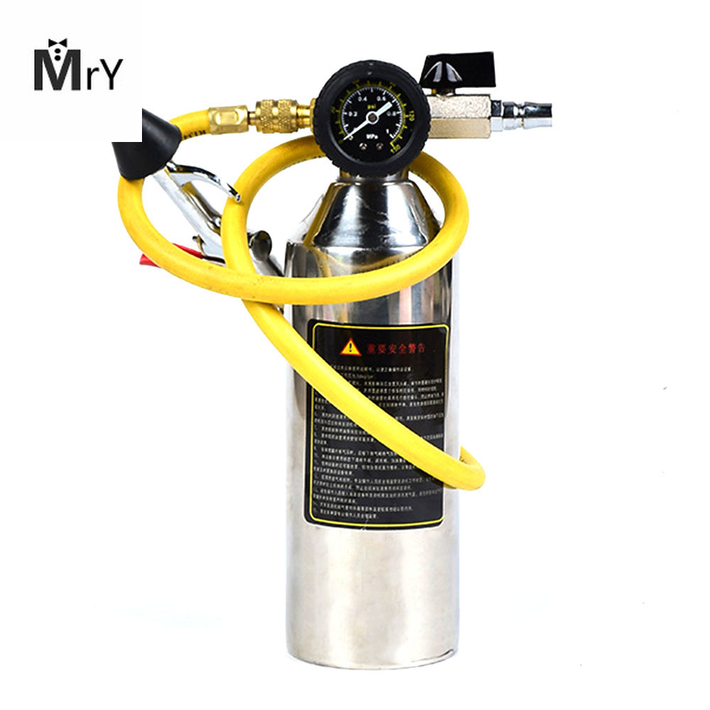 1pc Car air conditioning pipe cleaning bottle A/C Flush Kits Canister for Clean Gun Tool Car Pipe Wash Time Saving Vehicle Air C|A/C & Heater Controls| |  - title=