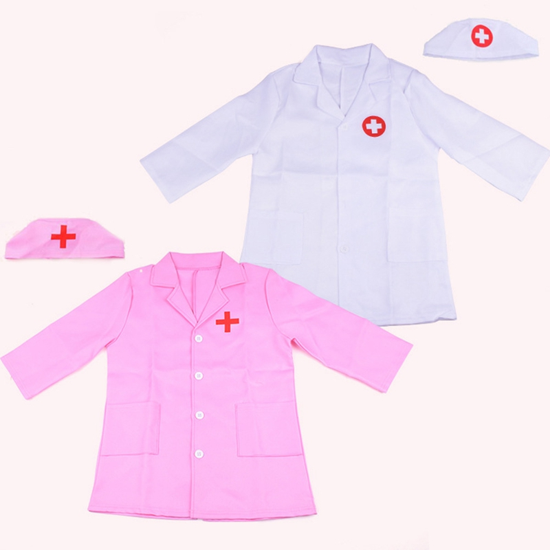 Children Girl Boy Doctor Nurse Cosplay Costume Masquerade Party Clothes For Kids Children Hospital Professional Experience Game