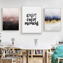 Abstract Scandinavian Canvas Posters and Prints Wall Art Nordic Quotes Painting Picture for Living Room Home Decoration(China)