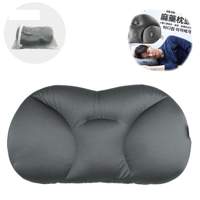 New Creative 3D Neck Pillow Washable Polyester Pillowcase Cover Travel Pillows Deep Sleep Lunch Break Foam Particle Pillows Neck