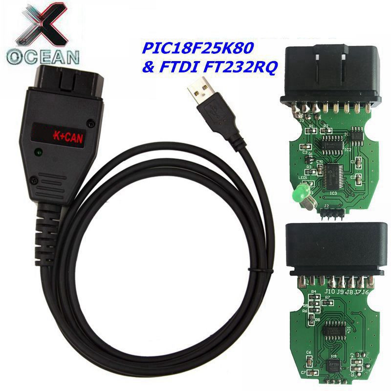 For VAG K+CAN Commander 1.4 Diagnostic Scanner Tool For VAG 1.4 COM Cable For Vag PIC18F25K80 FTDI FT232RQ Chip Free Shipping