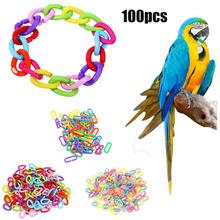 100pcs Plastic C-clips Hooks Chain C-links Sugar Glider Rat Parrot Bird Toy Stairs Pet Products Toy Rat Parrot Toy Parts