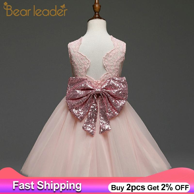 ALI shop ...  ... 32848312720 ... 1 ... Bear Leader Girls Dresses 2020 New Brand Princess Girls Clothes Bowknot Sleeveless Party Dress Kids Dress for Girls 1-6 Years ...
