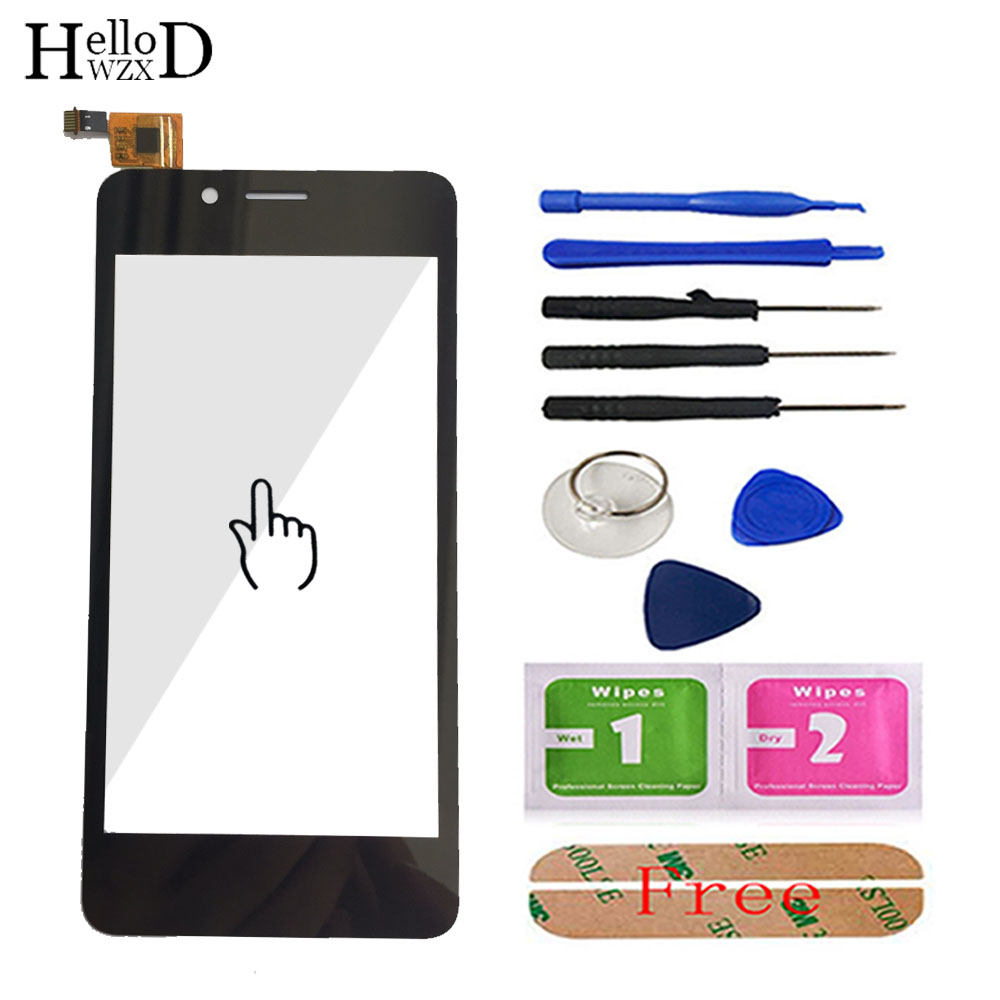 Touch Screen Glass For Fly FS458 Stratus 7 Touch Screen Glass Digitizer Panel Lens Sensor Mobile Phone Tools Adhesive