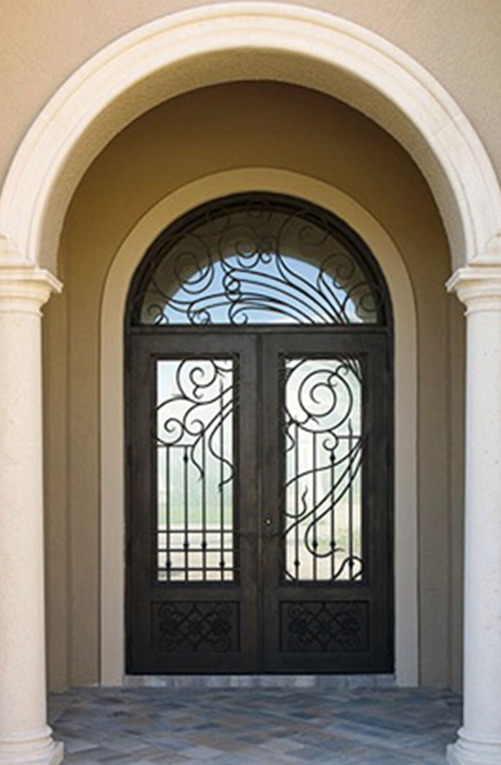 Shanghai Hench Brand China Factory 100% Custom Made Sale Australia Wrought Iron And Glass Doors