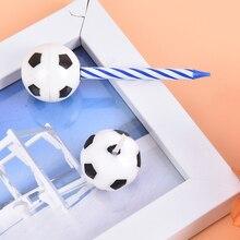 Football-Candles Birthday-Party Supplies Decor Party-Cake Wedding-Garden-Decoration Cute