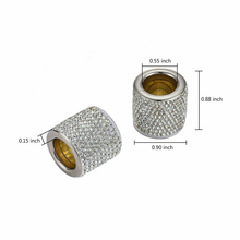 Rhinestone Car Interior Headrest 2Pcs Seat Crystal Decor Ring Collars Girls Diamond Accessories