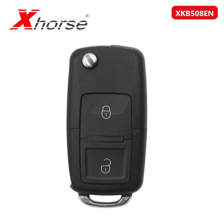 Xhorse XKB508EN Wire Universal Remote Key B5 Style 2 Buttons For VVDI Key Tool, VVDI2(English Version) 5 Pcs/lot