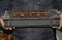 Свадебные украшения Старый тибетский буддистский храм дерево Xuan бумага Писание Будда с сутрой сердца набор книг