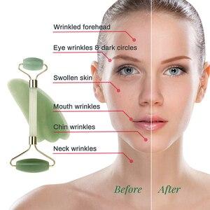 Image 4 - Nuovo Quarzo Rosa Rullo Massaggiatore Viso Lifting Rassodante Giada Naturale Del Viso Massaggio di Rotolamento di Pietra di Massaggio di Cura di Bellezza per Le Donne