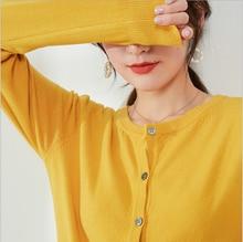 Women's cardigan 2020 new spring and autumn thin cardigan round neck loose long sleeve short sleeve versatile small coat