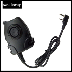 Image 1 - Waterproof  PTT Cable For Z Tactical Headset ComtacII H50 MSA SORDIN H60 HD03 Headset For Kenwood For Baofeng Two Way Radio