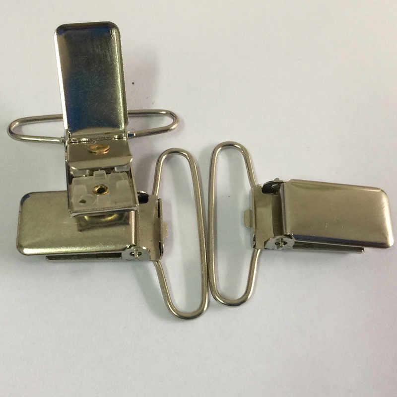 35mm Rechteck Form Metall Paci Schnuller Hosenträger Clips Halter für Handwerk Projekt Kunststoff Einsatz 10 teile/los