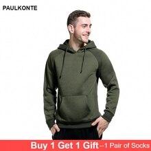 PAULKONTE 2019 Fashion EU Size Hooded Sweatshirt Men Hoodies Casual Solid Color Long-Sleeved Trend Simple Sweat-shirt Autumn