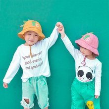 Осенние шапки с принтом из мультфильма для маленьких мальчиков и девочек 2-6 лет, Повседневные шапки, двусторонний головной убор от солнца
