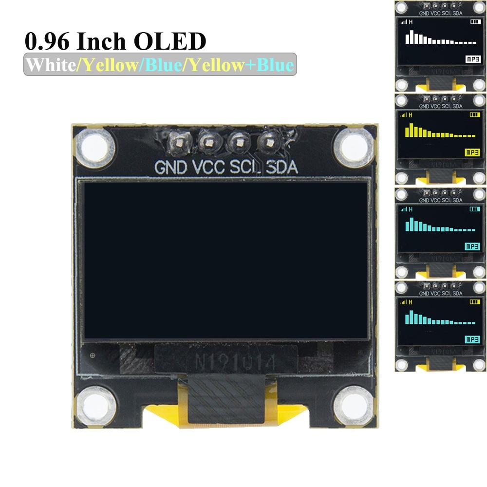 """10 pces 0.96 polegada iic série branco módulo de exibição oled 128x64 i2c ssd1306 12864 placa da tela lcd gnd vcc scl sda 0.96 """"para arduino"""
