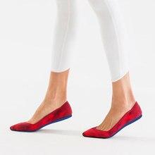 GENSHUO נשים בלט דירות נעליים להחליק על הבוהן מחודדת גבירותיי כונן מזדמנים נוח רך ופרס נעלי בהריון אישה