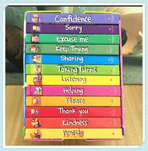 12 książek zestaw przypadek dobrych manier angielska książka planszowa dla dzieci edukacyjna historia obrazkowa książka kieszonkowa 11*11cm dla dzieci w wieku 2-6 lat tanie tanio W wieku 2-5 lat CN (pochodzenie) english W porządku wiążące 2010-teraz