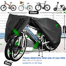 C # bicicleta engrenagem protetora à prova dwaterproof água capa de bicicleta ao ar livre sol dustproof capa 200 × 115 × 75 cm 2 bicicleta exterior capa