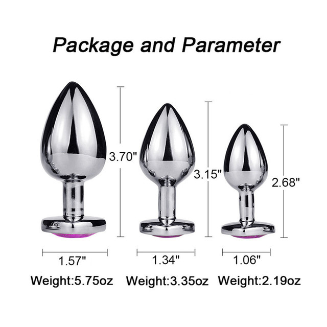 Anal Plug for Beginner Metal Anal Plug for Gay Toy Small Butt Plug Anal Beads Sex Toys Products For Women/Men  Prostate Massage 2