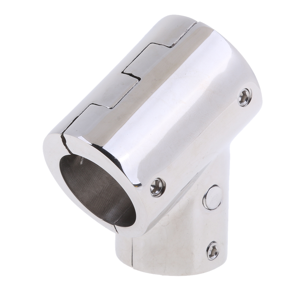 316 Stainless Steel Boat Marine Handrail 60 Degree T/Tee Fitting Rail Connector Split For 1 Inch 25mm Tube