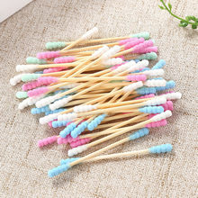 200Pcs Wattenstaafjes Cosmetische Tip Cleaning Tool Multi-color Hygiene Care Oren Wattenstaafjes Stick Bamboe Handvat Facial make-Up Tool(China)