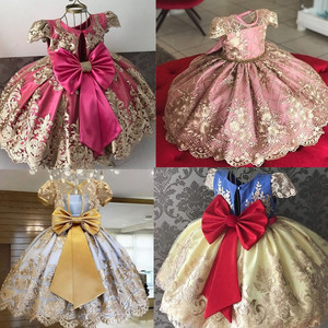 Newborn Baby Girl 1 Year Birthday Dress Tutu First Christmas Party Cute Bow Dress Infant Christening Gown Toddler Girls Clothes