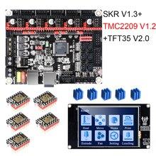 لوحة طابعة ثلاثية الأبعاد BIGTREETECH SKR V1.3 + سائق UART + TFT35 V2.0 قطع غيار طابعة ثلاثية الأبعاد تعمل باللمس VS TMC2208 TMC2130 MKS GEN L