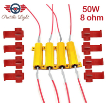 Led Decpder 50W 8ohm Load Resistors,Fix LED Bulb Fast Hyper Flash Turn Signal Blink Error Code